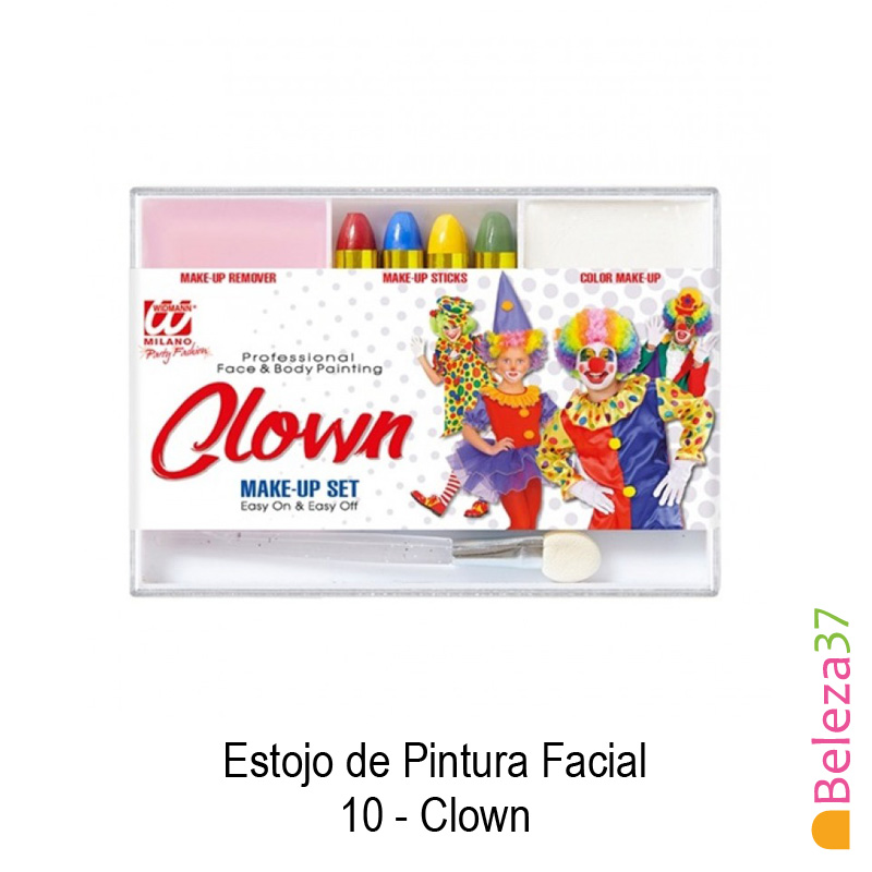 Estojo de Pintura Facial - 10 - Clown (Palhaço)