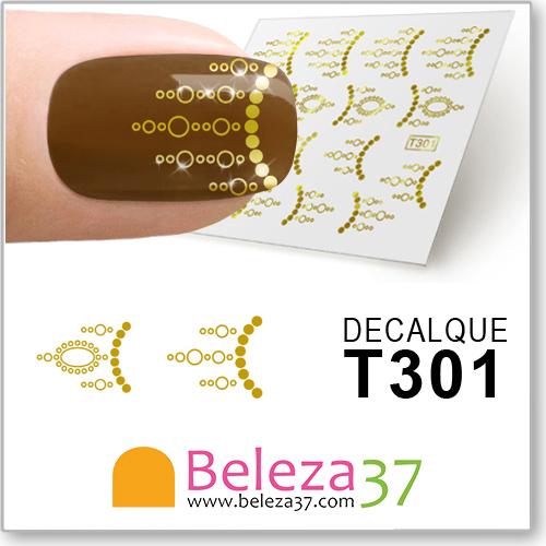 Decalques com Padrões em Ouro (T301)