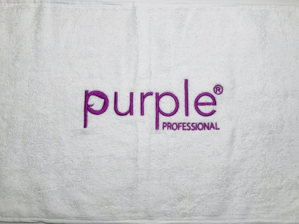Toalha Bordada Purple Professional