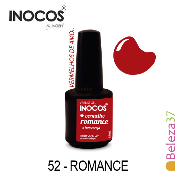 Verniz Gel Inocos 52 — Romance (Vermelho Cereja)