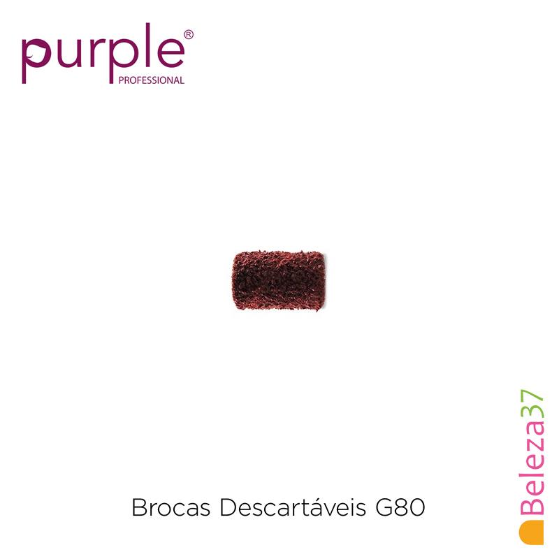Brocas Descartáveis PURPLE Grão Grosso 80 - 100 unidades