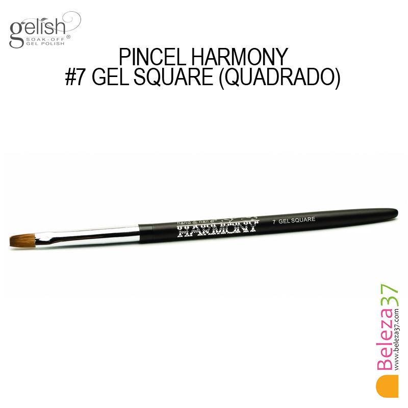 Pincel Harmony - #7 GEL SQUARE (Quadrado)