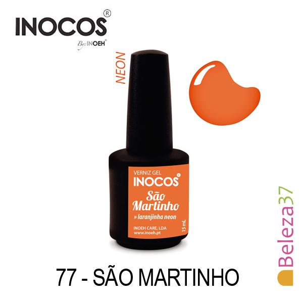 Verniz Gel Inocos 77 — São Martinho (Laranjinha Neon)