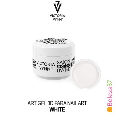 Art Gel 3D para Nail Art Victoria Vynn - 01 - White