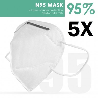 Máscara Facial KN95 / FFP2 - Pack de 5 Unidades