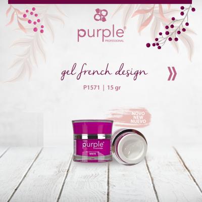 Gel Purple French Design 15g
