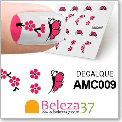 Decalques das Flores e Borboletas (AMC009)