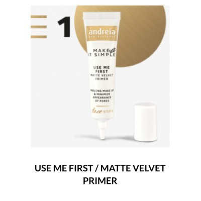 Andreia Face 1 - USE ME FIRST - Matte Velvet Primer