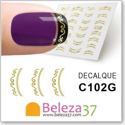 Decalques de ornamentação para Francesinha cor Ouro (C102G)