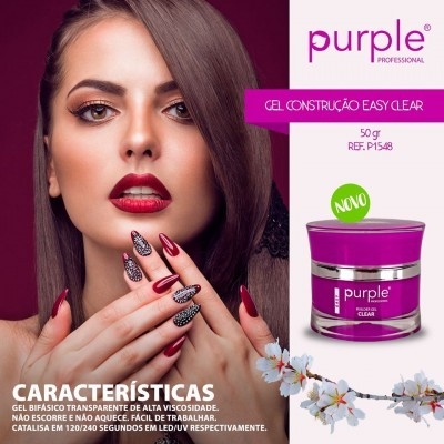 Gel Construtor Purple Easy Clear 50g
