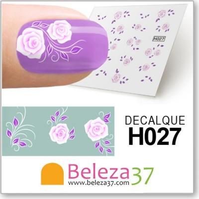 Decalques com Flores (H027)