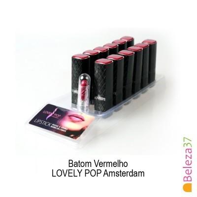 Batom LOVELY POP Amsterdam Nº24 - Vermelho