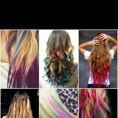 12 Cores Hair Chalk – Giz Pastel para Colorir Temporariamente o Cabelo
