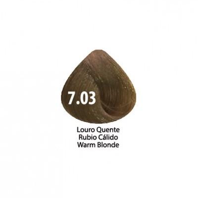 Tinta Violet Keratin Trendy 7.03 - 100ml - LOURO  QUENTE