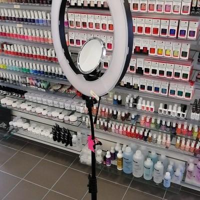 Anel Led Grande (Led Ring) de 48cm com Espelho