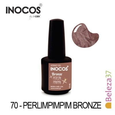 Verniz Gel Inocos 70 — Perlimpimpim Bronze (Bronze Metálico)