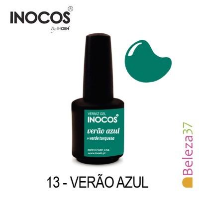 Verniz Gel Inocos 13 — Verão Azul (Verde Turquesa)