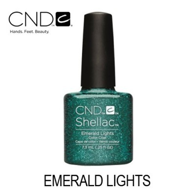 CND Shellac – Emerald Lights (Verde Esmeralda com Glitter)