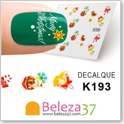 Decalques com Imagens de Natal (K193)
