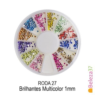 RODA 27 – Brilhantes Multicolor 1mm