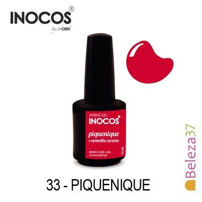 Verniz Gel Inocos 33 — Piquenique (Vermelho)