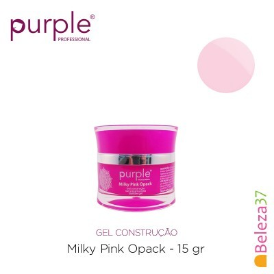 Gel Construtor Purple Milky Pink Opack – Rosa Leitoso Opaco 15g