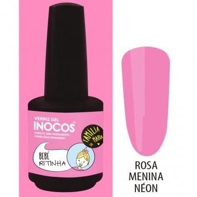 Verniz Gel Inocos – 198 - Bebé Ritinha (Rosa Menina Néon)