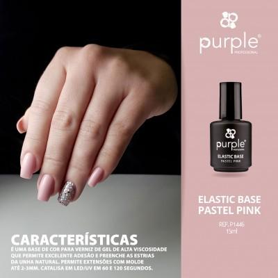 Elastic Base Pastel Pink  - Mega Base para Verniz Gel da PURPLE