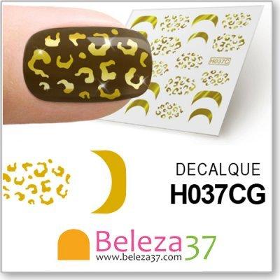 Decalques Malha de Leopardo em Ouro (H037CG)