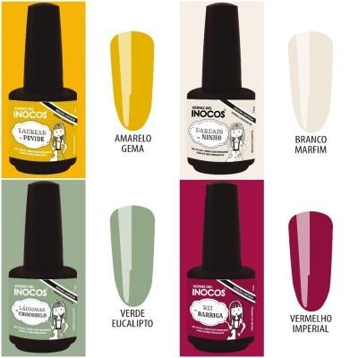 Verniz Gel Inocos – Coleção de 4 cores Maria Cachucha