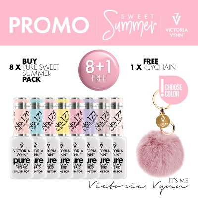 Kit Victoria Vynn 8 Cores Pure Sweet Summer 2020 (170 ao 177) + OFERTA Porta-Chaves