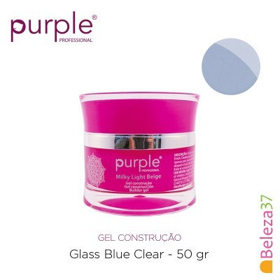 Gel Construtor Purple Glass Blue Clear – Azul Transparente 50g
