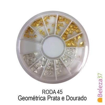 RODA 45 - Geométrica Prata e Dourado