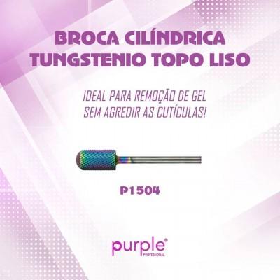 Broca Cilíndrica de Tungsténio Purple com Topo Liso