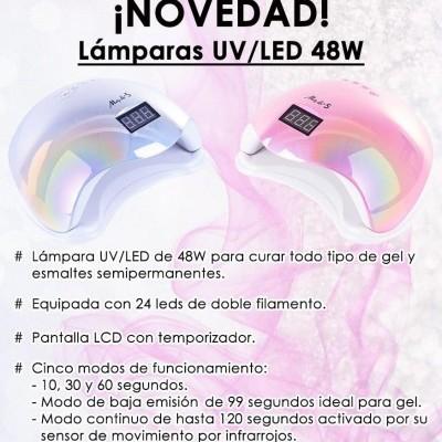 Catalisador UV/LED Molly Lac 48W - Cor Prata Holográfico