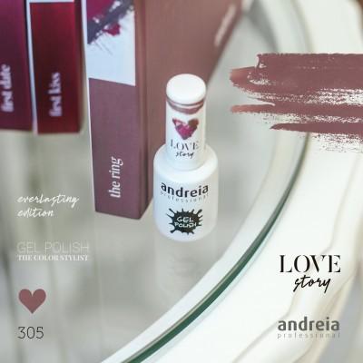 Verniz Gel Andreia 305 - The ring - Rosinha Nude com brilho rosa