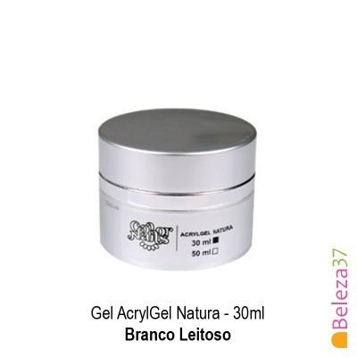 Gel AcrylGel Natura 30ml (Branco Leitoso)