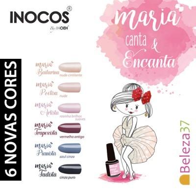Verniz Gel Inocos 108 — Maria Fadista (Cinza Puro)