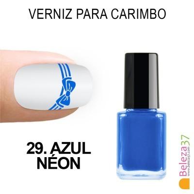 Verniz para Carimbo - 29. AZUL NÉON