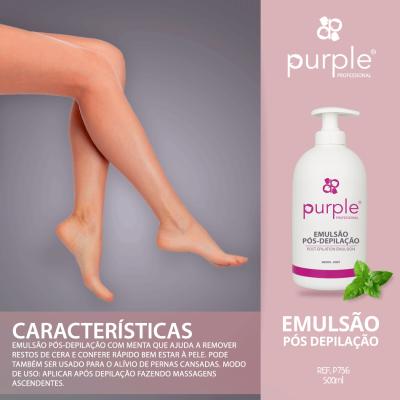 Emulsão Pós Depilação Menta Purple 500ml