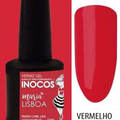 Verniz Gel Inocos 126 — Maria Lisboa (Vermelho Fado)