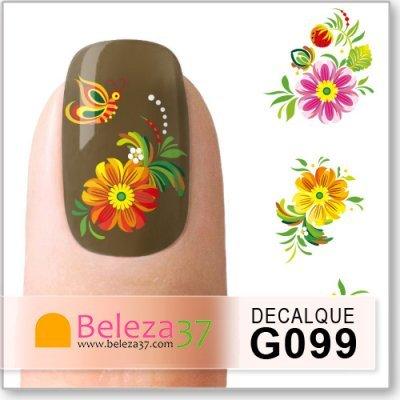 Decalques com Flores e Borboletas (G099)