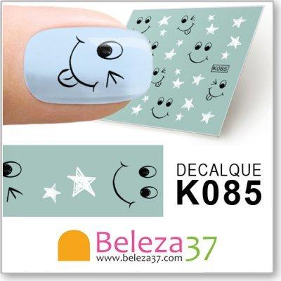 Decalques com Estrelas e Caras Sorridentes (K085)