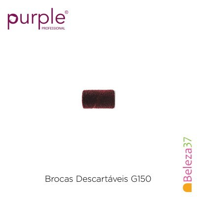 Brocas Descartáveis PURPLE Grão Médio 150 - 100 unidades