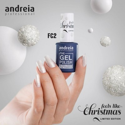 The Gel Polish Andreia FC2 (Glitter Branco)