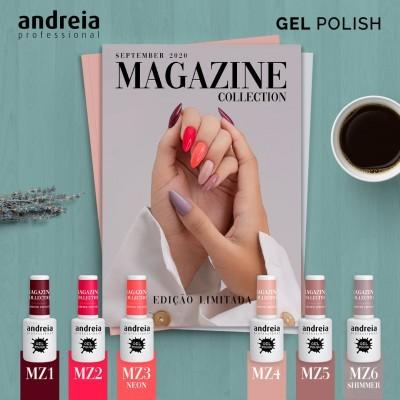 """Verniz Gel Andreia – 6 Cores da Coleção """"Magazine"""""""