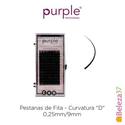 "Pestanas de Fita PURPLE - Curvatura ""D"" - 0,25mm/9mm"