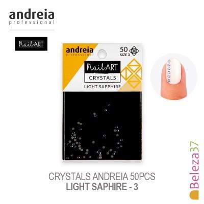 Crystals Andreia 50pcs - Light Saphire 3