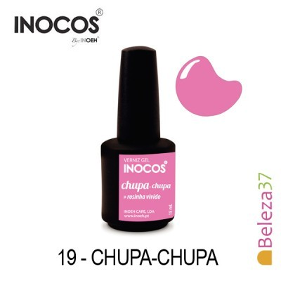 Verniz Gel Inocos 19 — Chupa-Chupa (Rosa Vibrante)