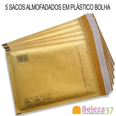 5 Sacos Almofadados em Plástico Bolha